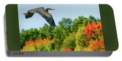 Heron In Autumn  Portable Battery Charger