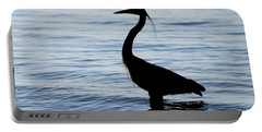 Heron In Silhouette Portable Battery Charger