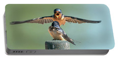 Hey, Babe, Let's Rock N Roll.  Barn Swallows Portable Battery Charger