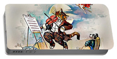 Portable Battery Charger featuring the digital art Hey Diddle Diddle by Pennie McCracken