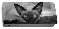 Hey There Blue Eyes - Siamese Cat Portable Battery Charger