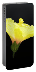 Hibiscus In Black Portable Battery Charger
