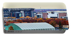 High Angle View Of Philadelphia Sports Portable Battery Charger