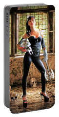 High Heeled Zombie Slayer Portable Battery Charger