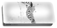High Key Zebra Drinking Portable Battery Charger