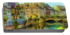 Historic Village On The Rhine Portable Battery Charger