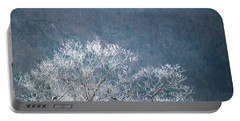Hoarfrost Collects On Branches Portable Battery Charger