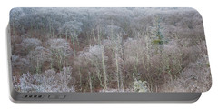 Hoarfrost In The Tree Tops Portable Battery Charger