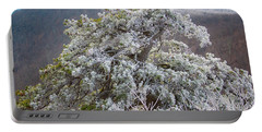 Hoarfrost On Trees Portable Battery Charger