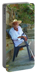 Portable Battery Charger featuring the photograph Hola Senor by Rosanne Licciardi
