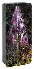 Portable Battery Charger featuring the photograph Holiday At 30 Rock by Chris Lord