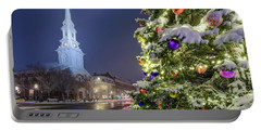 Holiday Snow, Market Square Portable Battery Charger