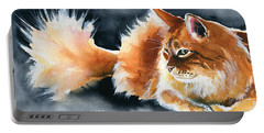 Holy Ginger Fluff - Cat Painting Portable Battery Charger