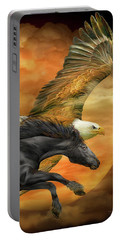 Horse And Eagle - Spirits Of The Wind  Portable Battery Charger