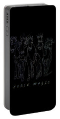 Portable Battery Charger featuring the digital art Horse Magic Line Drawing Horse Silhouette Design by OLena Art Brand