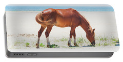 Horse On Beach Portable Battery Charger