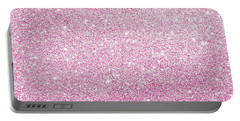 Hot Pink Glitter Portable Battery Charger