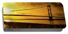 Humber Bridge Golden Sky Portable Battery Charger