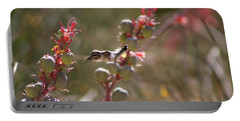 Hummingbird Flying To Red Yucca 1 In 3 Portable Battery Charger