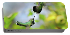 Hummingbirds Ensuing Battle Portable Battery Charger