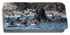 Humpbacks In Avila Harbor Portable Battery Charger