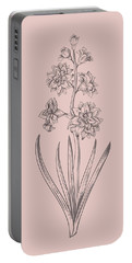 Hyacinth Blush Pink Flower Portable Battery Charger