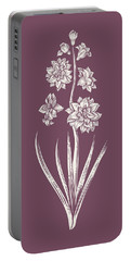 Hyacinth Purple Flower Portable Battery Charger
