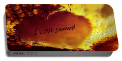 I Love James Heart Portable Battery Charger