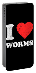 I Love Worms Portable Battery Charger