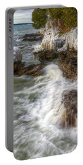 Ice And Waves Portable Battery Charger