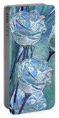 Ice Lisianthus Portable Battery Charger