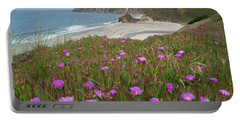 Ice Plant Flowers Along Coast, Russian Portable Battery Charger