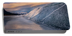 Ice Sheets On Abraham Lake Portable Battery Charger