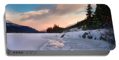 Icefields Parkway Winter Morning Portable Battery Charger