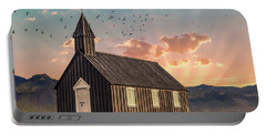 Iceland Chapel Portable Battery Charger