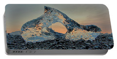 Iceland Diamond Beach Abstract  Ice Portable Battery Charger