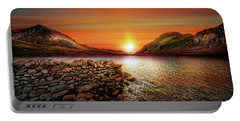 Idwal Lake Sunset Portable Battery Charger
