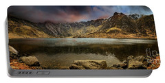 Idwal Lake Winter Sunset Portable Battery Charger