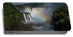 Iguazu Falls With A Rainbow Portable Battery Charger