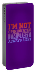 I'm Not Opinionated Portable Battery Charger