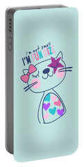 I'm Not Small, I'm Fun Size - Baby Room Nursery Art Poster Prin Portable Battery Charger
