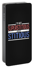 I'm Not Superstitious Portable Battery Charger