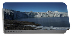 In Front Of A Glacier On Svalbard Portable Battery Charger