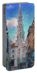 In-spired  Street Scene Brussels Portable Battery Charger