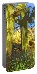 In The Shadow Of Saguaros Portable Battery Charger