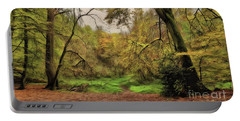 Portable Battery Charger featuring the photograph In The Woods by Leigh Kemp