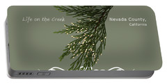 Incense Cedar - White Text Portable Battery Charger