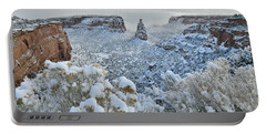 Independence Monument In Snow Portable Battery Charger