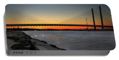 Portable Battery Charger featuring the photograph Indian River Bridge Over Swan Lake by Bill Swartwout Fine Art Photography