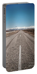 infinit road in Turkish landscapes Portable Battery Charger